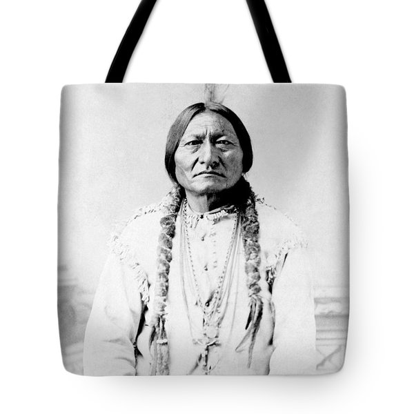 Sioux Chief Sitting Bull Tote Bag by War Is Hell Store