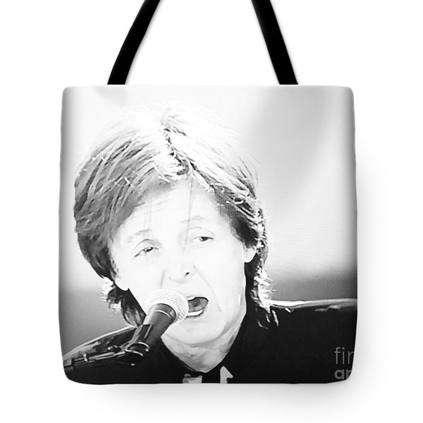 Sir Paul In Monochrome Tote Bag by Tina M Wenger