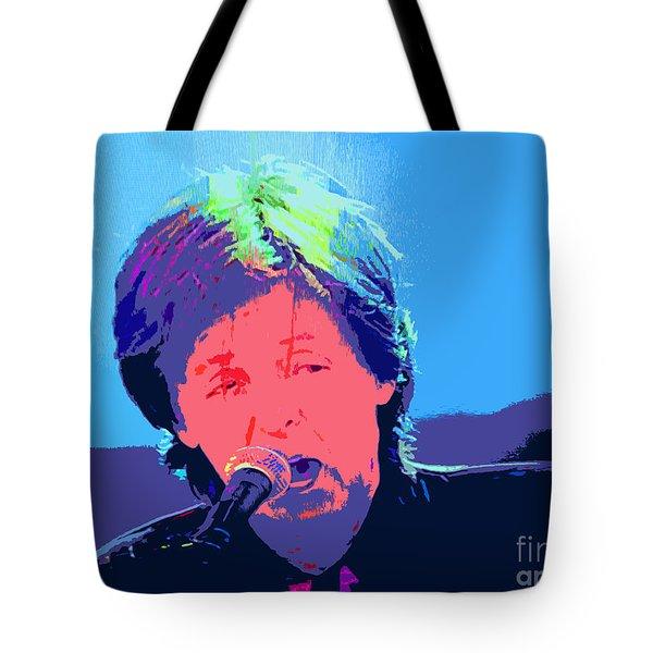 Sir Paul Pop Art Tote Bag by Tina M Wenger