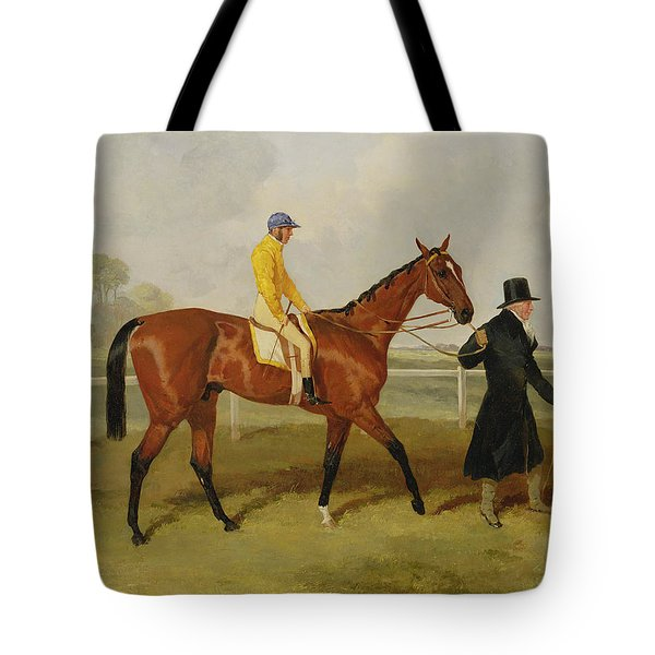 Sir Tatton Sykes Leading In The Horse Sir Tatton Sykes With William Scott Up Tote Bag by Harry Hall
