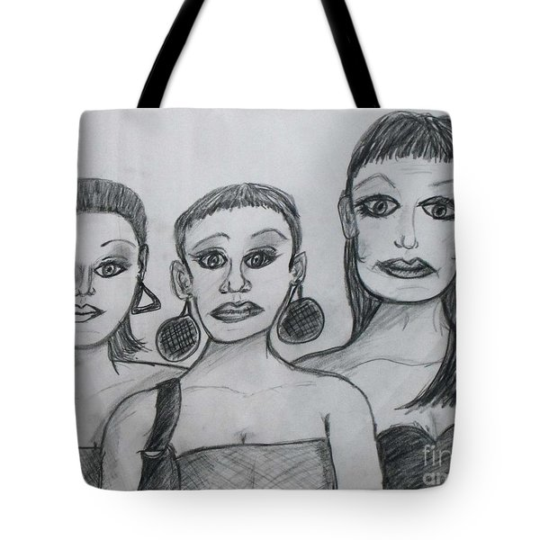 Sisters And Brother Tote Bag by Catherine Ratliff