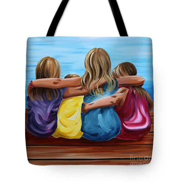 Sisters Tote Bag by Debbie Hart