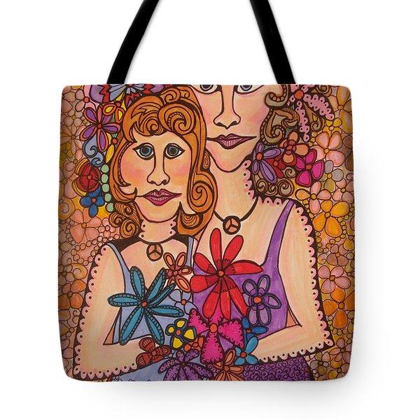 Sisters Of Peace  Tote Bag by Gerri Rowan