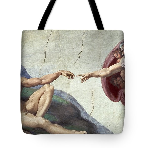Sistine Chapel Ceiling Tote Bag by Michelangelo Buonarroti
