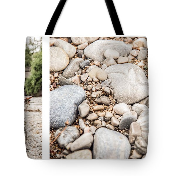 Sit Down... Stones White Tote Bag by Hannes Cmarits