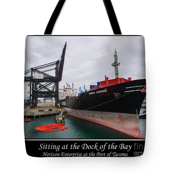 Sitting at the Dock of the Bay Tote Bag by Roger Reeves  and Terrie Heslop