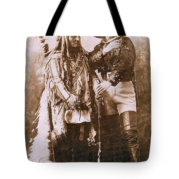 Sitting Bull and Buffalo Bill Tote Bag by Unknown