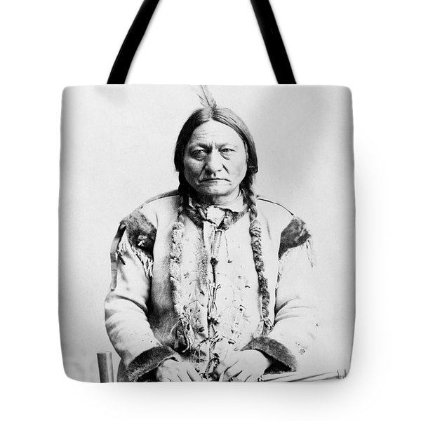 Sitting Bull Tote Bag by War Is Hell Store