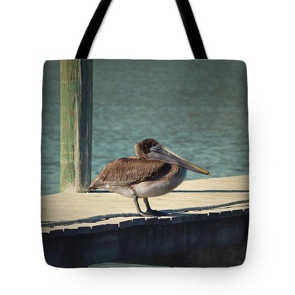 Sitting On The Dock Of The Bay Tote Bag by Kim Hojnacki