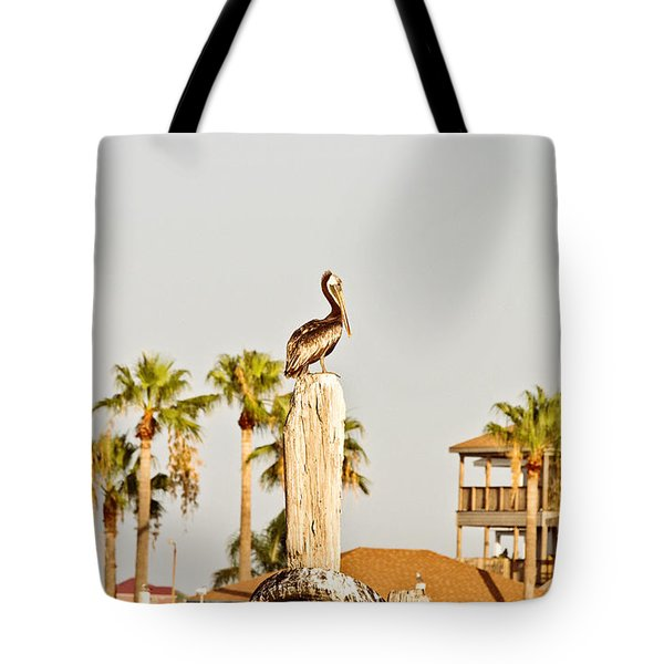 Sitting On The Throne Tote Bag by Scott Pellegrin