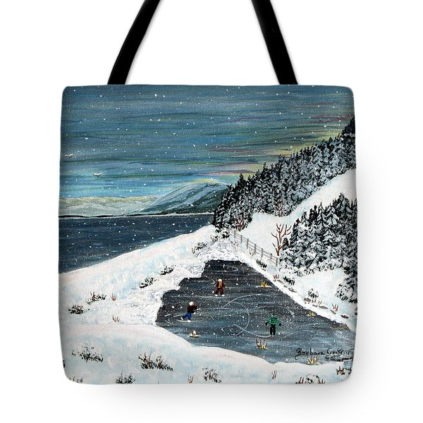 Skating On Pond Garden Tote Bag by Barbara Griffin