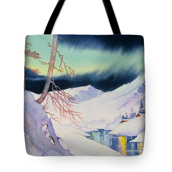 Ski Trail Tote Bag by Teresa Ascone