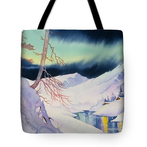 Ski Trail Tote Bag by Teresa Ascone