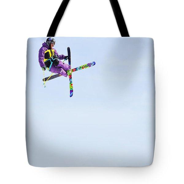 Ski X Tote Bag by Theresa Tahara