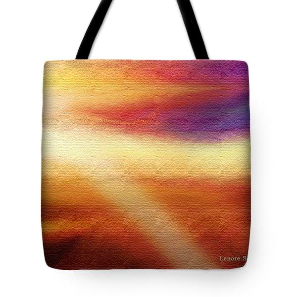 Skies 5 Tote Bag by Lenore Senior