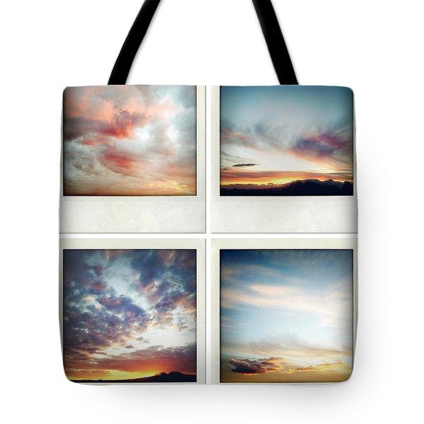 Skies Tote Bag by Les Cunliffe