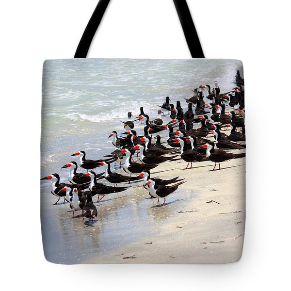 Skimmers On The Beach Tote Bag by Carol Groenen
