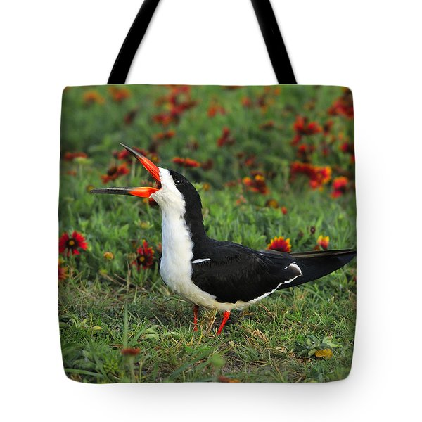 Skimming Through The Garden Tote Bag by Tony Beck