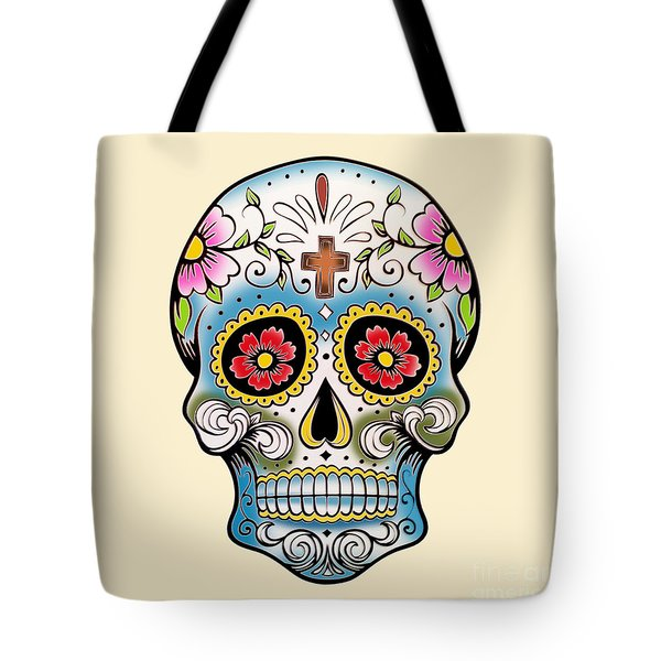 Skull 10 Tote Bag by Mark Ashkenazi