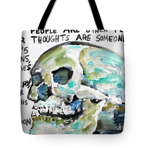 Skull Quoting Oscar Wilde.10 Tote Bag by Fabrizio Cassetta
