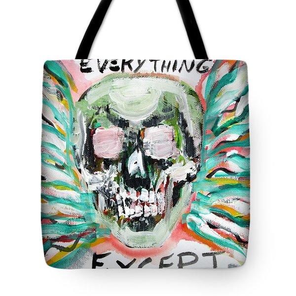 Skull Quoting Oscar Wilde.7 Tote Bag by Fabrizio Cassetta
