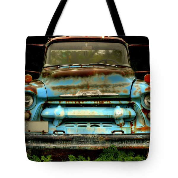Sky Blue And Still Cool Tote Bag by Thomas Young