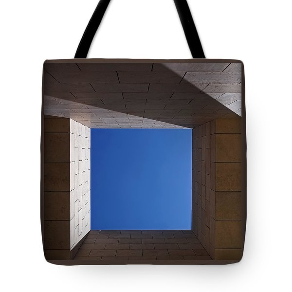 Sky Box At The Getty 2 Tote Bag by Rona Black