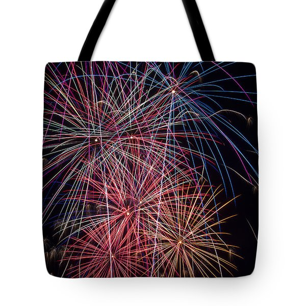 Sky Full Of Fireworks Tote Bag by Garry Gay