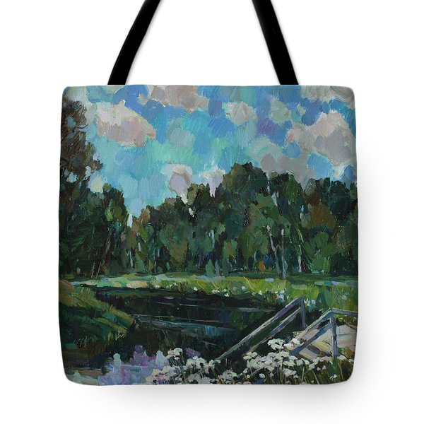 Sky In The River Tote Bag by Juliya Zhukova