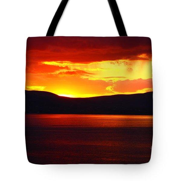 Sky Of Fire Tote Bag by Aidan Moran