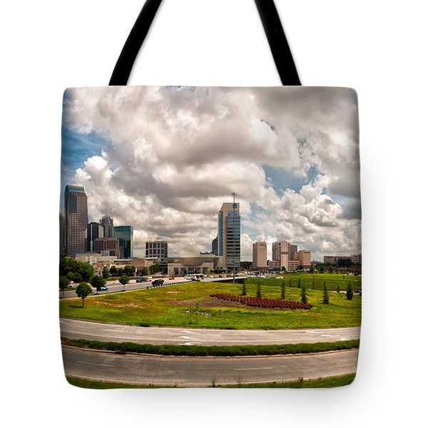 Skyline of Charlotte Towers Tote Bag by Alexandr Grichenko