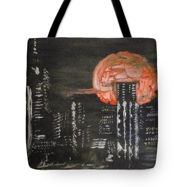 Skyrise Moon Tote Bag by PainterArtist FIN