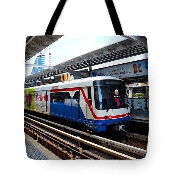 Skytrain Carriage Metro Railway At Nana Station Bangkok Thailand Tote Bag by Imran Ahmed
