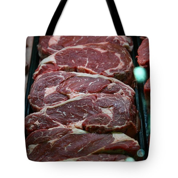 Slabs Of Raw Meat - 5d20691 Tote Bag by Wingsdomain Art and Photography