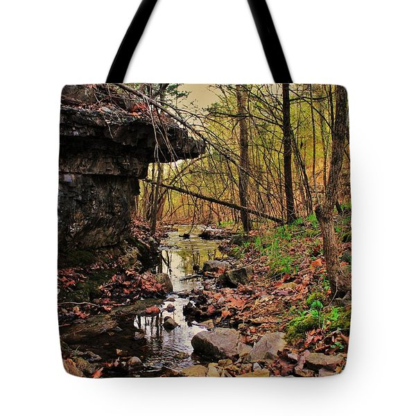 Slate Bottom Creek Tote Bag by Benjamin Yeager