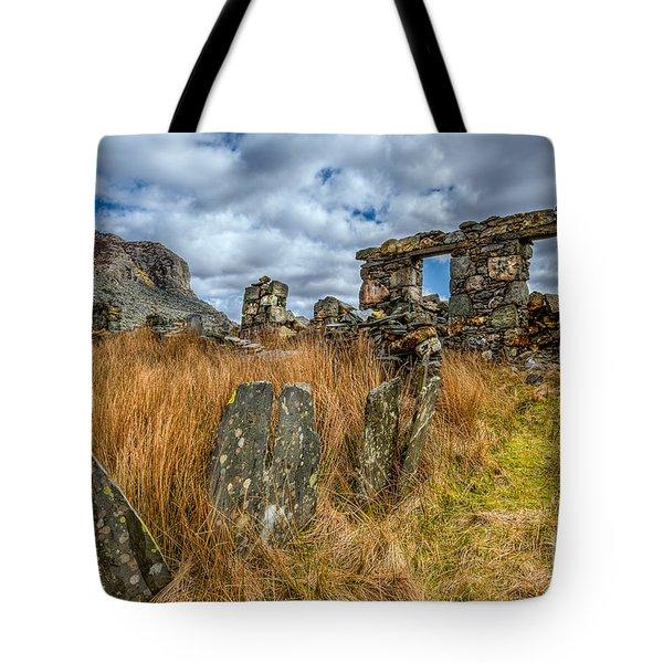 Slate Mine Ruins Tote Bag by Adrian Evans