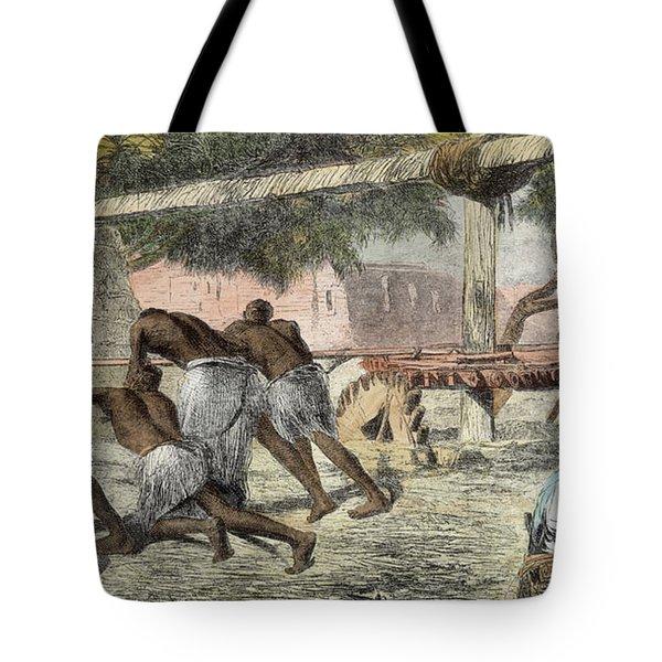 Slaves Irrigating By Water-wheel Tote Bag by English School