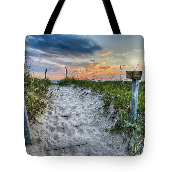 Sleeping Bear National Lakeshore Sunset Tote Bag by Sebastian Musial