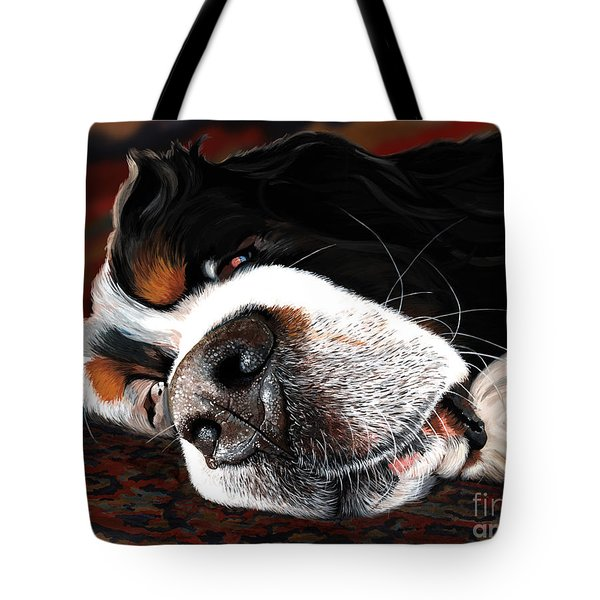 Sleeping Dogs Lie Tote Bag by Liane Weyers