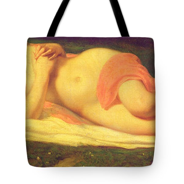 Sleeping Nymph Tote Bag by Jean Baptiste Ange Tissier