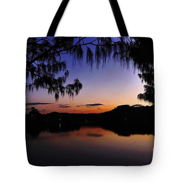 Sleeping Sun Tote Bag by Kaye Menner