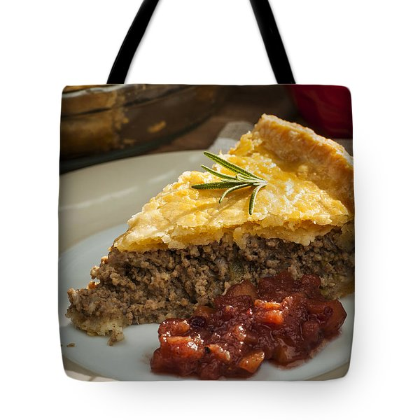 Slice Of Tourtiere Meat Pie  Tote Bag by Elena Elisseeva