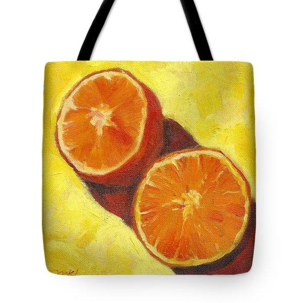 Sliced Grapefruit Tote Bag by Marlene Lee