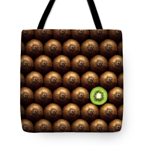 Sliced Kiwi Between Group Tote Bag by Johan Swanepoel