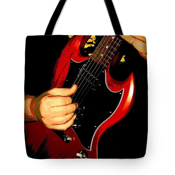 Slide Guitar Tote Bag by Chris Berry