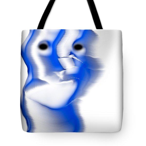 Slight Grin Tote Bag by Christopher Gaston