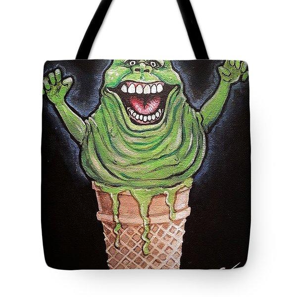 Slimer Cone Tote Bag by Tom Carlton