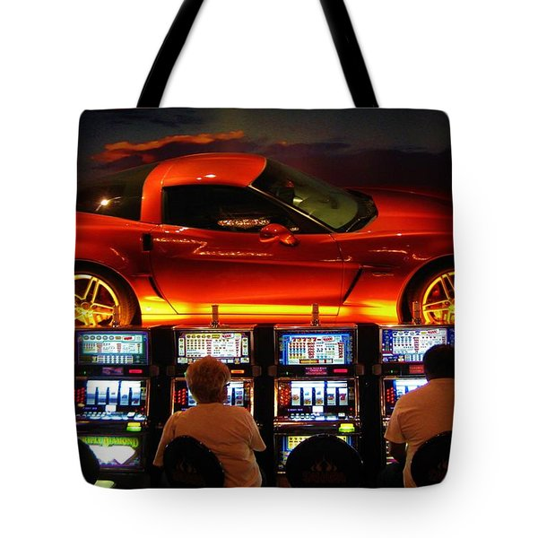 Slots Players In Vegas Tote Bag by John Malone