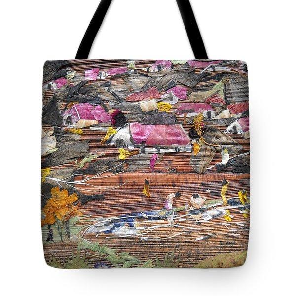 Slum On Hill  Tote Bag by Basant Soni