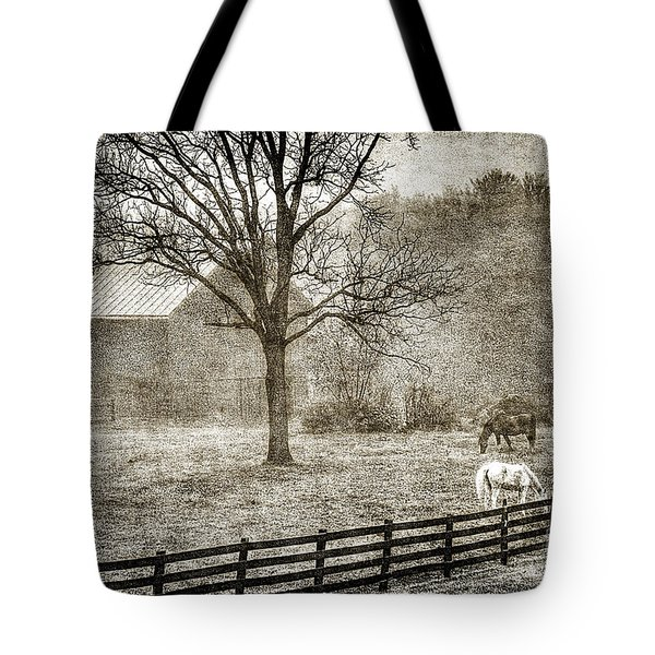 Small Farm In West Virginia Tote Bag by Dan Friend